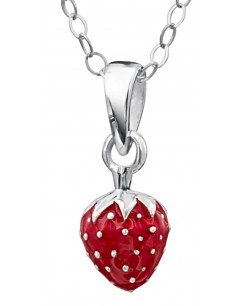 Mein-juwel - DP165de - Sterling silver Superb strawberry for a little girl necklace