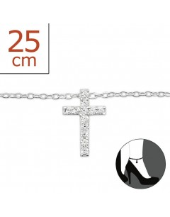 Mein-juwel - H6444de - Sterling silver cross Chain ankle