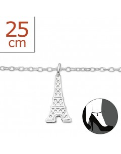 Mein-juwel - H235zde - Sterling silver eiffel tower Chain ankle
