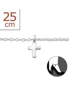 Mein-juwel - H1501zde - Sterling silver cross Chain ankle