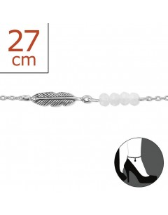 Mein-juwel - H1974zde - Sterling silver feather Chain ankle