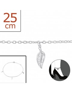 Mein-juwel - H2306zde - Sterling silver sheet Chain ankle